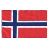 vidaXL Bandera de Noruega 90x150 cm