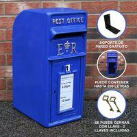 Royal Mail Buzón De Correos Azul Pilar De Hierro Fundido Buzón De
