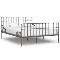 vidaXL Estructura de cama con somier metal gris 180x200 cm