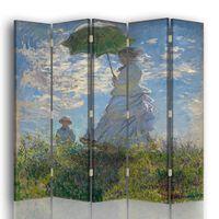 Biombo Dama Con Parasol - Claude Monet - Separador de Ambientes