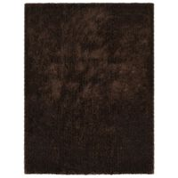 vidaXL Alfombra peluda marrón 80x150 cm