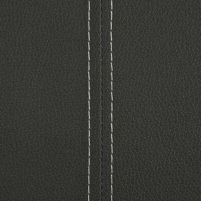 vidaXL Sillas voladizas de comedor 4 unidades cuero sintético gris