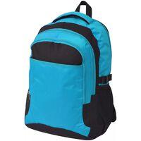 vidaXL Mochila de colegio 40 L negra y azul