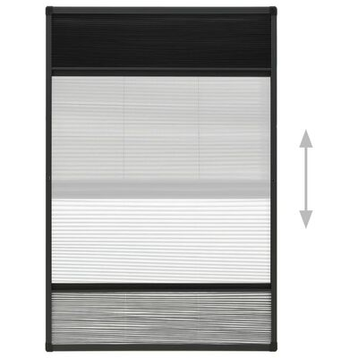 vidaXL Mosquitera plisada para ventanas aluminio con sombra 110x160 cm