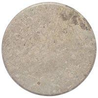 vidaXL Tablero para mesa mármol gris Ø60x2,5 cm