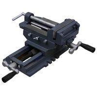 vidaXL Tornillo de banco manual carro transversal 127 mm