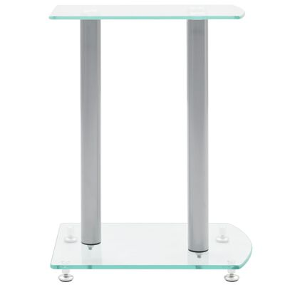 Set De 2 Transparente Cristal Vidrio De Seguridad Soporte De Altavoz