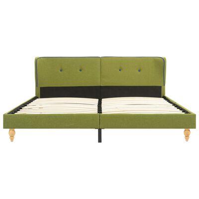 vidaXL Estructura de cama de tela verde 180x200 cm