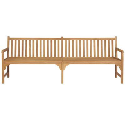 vidaXL Banco de jardín madera maciza teca con cojín antracita 240 cm