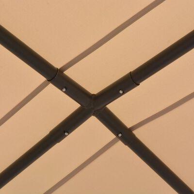vidaXL Cenador 4x4 m de acero beige