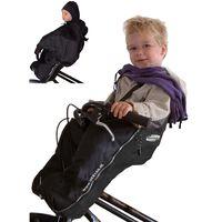 DERYAN Saco de bebé Bike-a-way negro