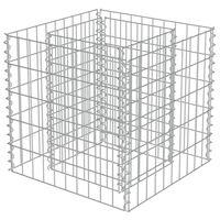 vidaXL Arriate de gaviones de acero 50x50x50 cm