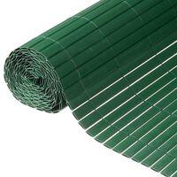 Nature Valla cañizo de ocultación jardín doble cara PVC verde 1,5x3 m