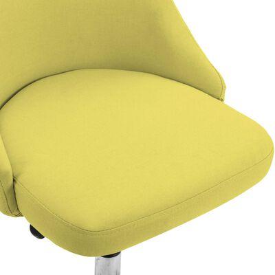 vidaXL Sillas de comedor 6 unidades de tela amarillas