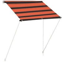 vidaXL Toldo retráctil naranja y marrón 150x150 cm