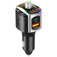 Transmisor FM Bluetooth con cargador de coche USB PD + QC3.0