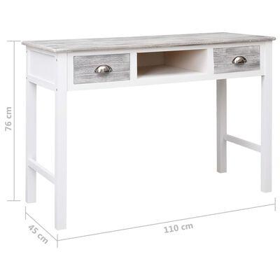 vidaXL Escritorio de madera gris 110x45x76 cm