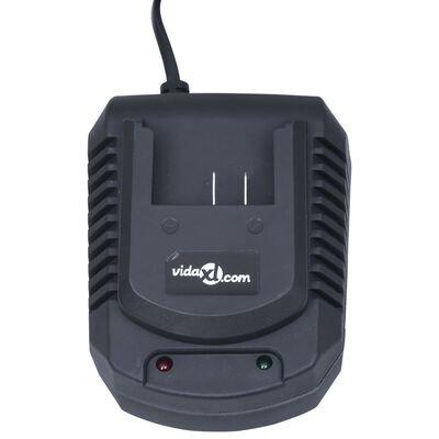 vidaXL Cargador rápido individual para baterías de ion-litio 20 V