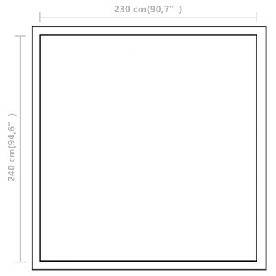 vidaXL Invernadero de aluminio reforzado con marco base 6,05 m²