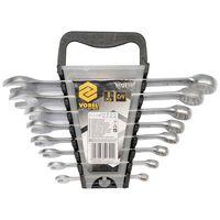 VOREL Set de llaves inglesas combinadas 8 piezas 6-19 mm