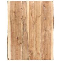 vidaXL Superficie de mesa de madera maciza de acacia 80x(50-60)x3,8 cm