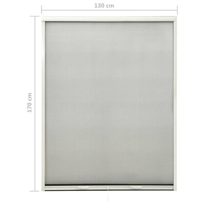 vidaXL Mosquitera enrollable para ventanas blanco 130x170 cm