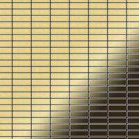 ALLOY Cabin-BM Mosaico de metal sólido Latón oro