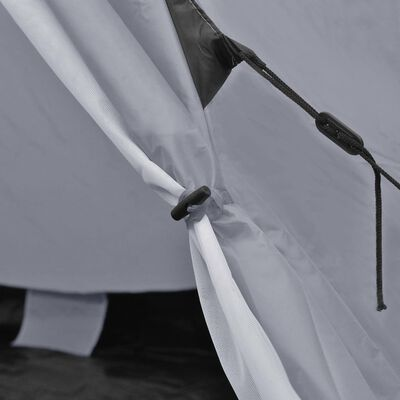 vidaXL Tienda de campaña para 4 personas gris