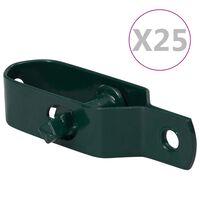 vidaXL Tensores de alambre para valla 25 uds acero verde 90 mm