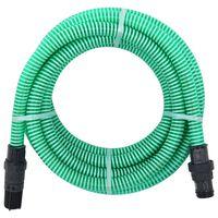 vidaXL Manguera de succión con conectores PVC 4 m 22 mm verde