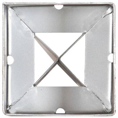 vidaXL Picas de tierra 12 uds acero galvanizado plateado 9x9x90 cm