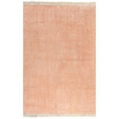 vidaXL Alfombra de algodón Kilim 200x290 cm rosa