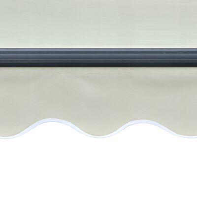 vidaXL Toldo retráctil sensor de viento y LED color crema 600x300 cm