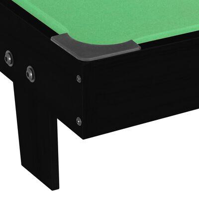 vidaXL Mini mesa de billar negro y verde 92x52x19 cm