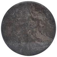vidaXL Tablero para mesa mármol negro Ø50x2,5 cm