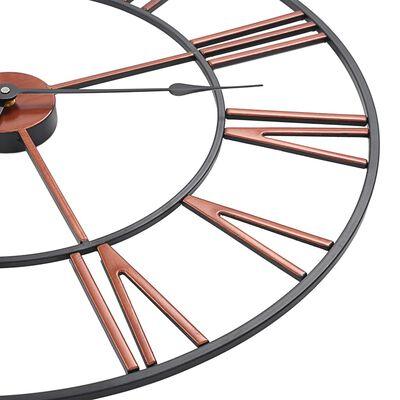 vidaXL Reloj de pared de metal rojo 58 cm