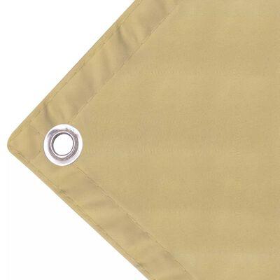 vidaXL Toldo para balcón tela oxford 90x400 cm beige