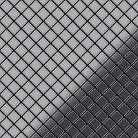 ALLOY Diamond-S-S-MM Mosaico de metal sólido Acero inoxidable gris