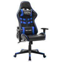 vidaXL Silla de gaming de cuero sintético negro y azul