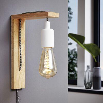 EGLO Lámpara LED de pared Tocopilla madera blanco