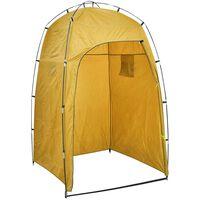vidaXL Cabina de ducha/WC/vestidor para camping amarillo