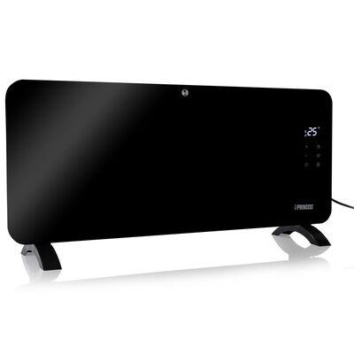 vidaXL Calentador de panel de vidrio Smart negro 2000 W