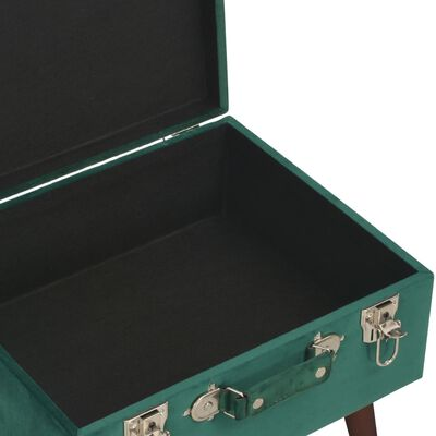 vidaXL Taburete de almacenamiento terciopelo verde 40 cm