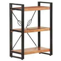vidaXL Estantería de 3 niveles de madera maciza de acacia 60x30x80 cm