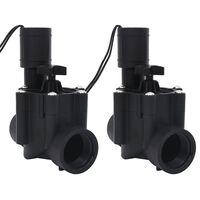 vidaXL Válvulas solenoides para riego 2 piezas AC 24 V