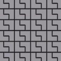 ALLOY Kink-S-S-MA Mosaico de metal sólido Acero inoxidable gris