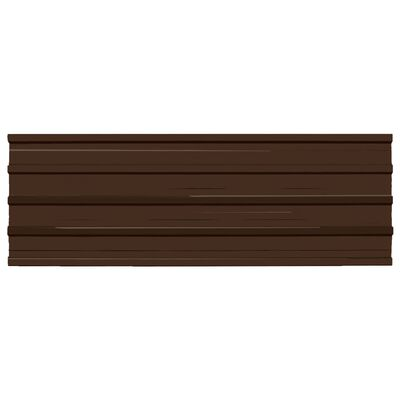 vidaXL Panel para tejado 12 unidades acero galvanizado marrón