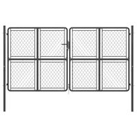 vidaXL Puerta de jardín de acero gris antracita 300x175 cm