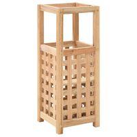 vidaXL Paragüero de madera maciza de nogal 18x18x50 cm