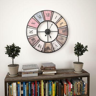 vidaXL Reloj de pared vintage movimiento cuarzo 60 cm XXL